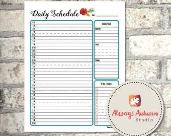 Printable Daily Schedule - Four Seasons Collection - Homeschool - Organizer - Planner