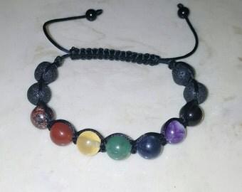 7 Chakra 100% natural, shamballa bracelet.