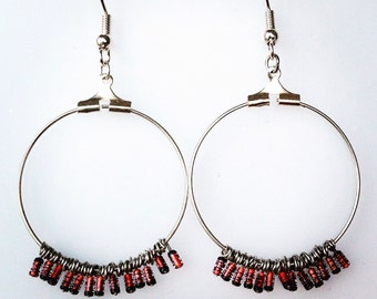 Red & Black Diodes Earrings