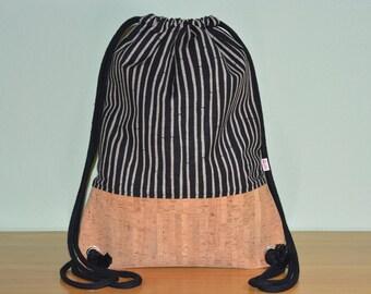 Gym bags backpack Cork bamboo black nature
