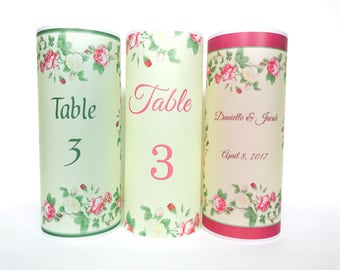 Table numbers,  Luminaries , Table decor, Wedding table centerpiece, Vintage wedding, Garden wedding, table number wedding candle, rustic