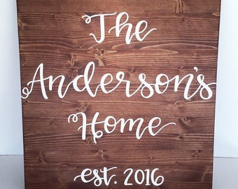 Family name sign home decor sign rustic home decor rustic sign farmhouse sign last name sign