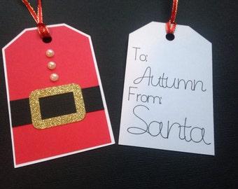 Santa gift tag, Christmas gift tag, from Santa tag, Christmas tag, personalized gift tag, from Santa, christmas gift , christmas , gift tag