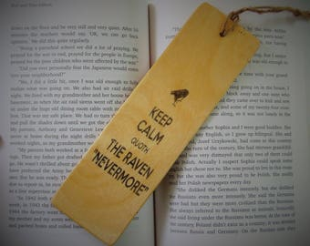 The Raven Edgar Allan Poe Wood Bookmark