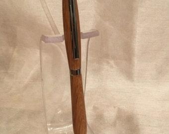 Handmade stylus pen oak chrome