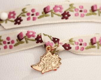 Hedgehog plate or mounted on a Liberty Link Bracelet