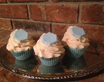 Discount>>>>>Sparkling Snowflake Soap Cupcakes>>>>>On Sale and Marked Down