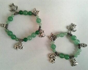 Green Aventurine Charm Bracelet