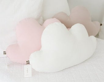 Pink, white or beige soft cloud pillow