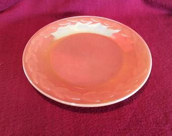 Fire King Ware Peach Lustre Laurel Leaf Salad Plate