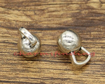 10pcs Kettlebell Charms 3D Weightlifting Charms Antique Silver Tone 19x12x12mm CF2438