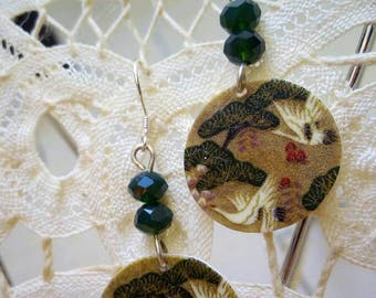 light green tone earrings