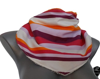 Handmade accessories for teens, in bright autumn colours, striped, with micro fiber plush cuddly plush, art. No. 8003