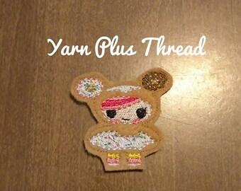 Donut Girl Feltie Embroidery Design