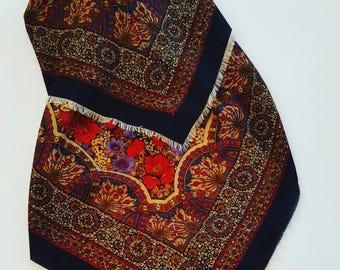 Vintage scarf wool and silk