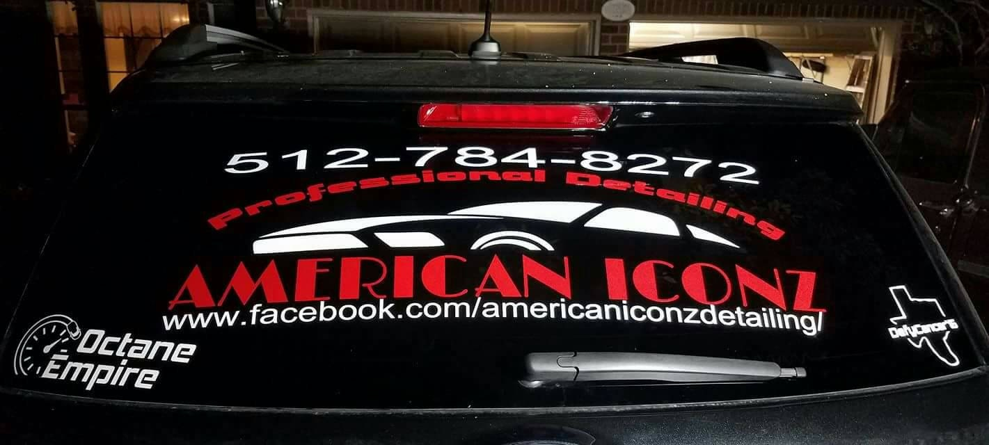 Custom Car Window Decals Sports Team Business Logos Custom - Custom window clings for cars