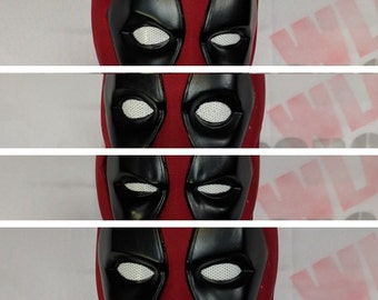 Untextured DEADPOOL mask v2 with magnetic facial EXPRESSIONS