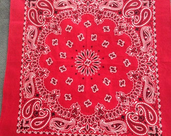 The Red Bandana RN 15187 - Made in the USA - Vintage