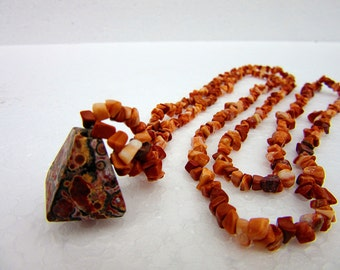 Red jasper, necklace, pyramid, leopard Jasper, precious stones, healing stones, chakra, semi- precious stones, healing, energy,