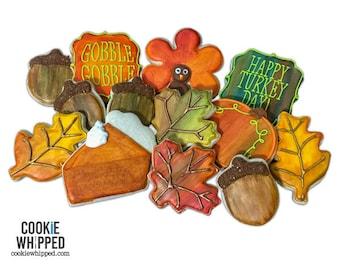 Hand-Painted Thanksgiving Cookie Set - 2 Dozen