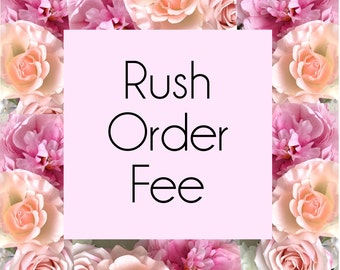 Rush Order Fee for Floral Letters and Floral Mobiles- Ships in 3-5 Business Days