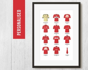 Personalised Middlesbrough Fantasy Football Team Poster Art Print *FREE UK DELIVERY* Gift Idea