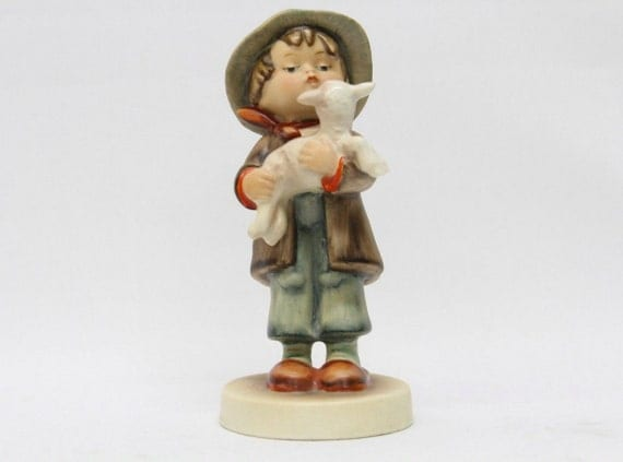 "Hummel Goebel Figurine 68 TMK-1 Lost Sheep 6"" Full Crown US Zone 1946-1948 RARE!"