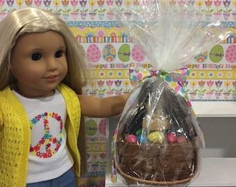 """Easter Basket for 18"""" Dolls"""