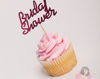 Hens Night Bachelorette Cupcake Toppers Bridal Shower PInk