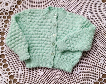 Childs cardigan size two in wool