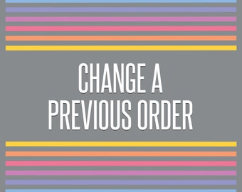 Change Info • Changing your personal information from a previous order • Digital File Fee