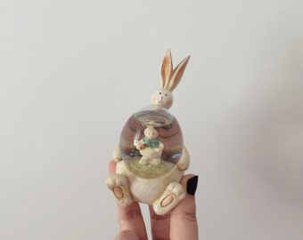 Darling Easter Bunny Small Snowglobe