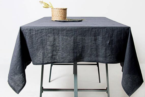 Linen Tablecloth 14 Colors, Softened Linen Tablecloth, Grey Tablecloth,  Custom Linen Tablecloth, Linen Table Cloth, Grey Linen Tablecloth