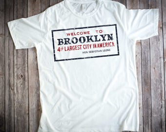 Welcome-to-Brooklyn-Sign-Welcome-Back-Kotter-White-T-Shirt-Adult-Sizes-SM-2XL