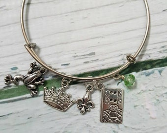Tiana Inspired Bracelet, Princess and the Frog Jewelry, Frog Jewelry, Fantasy Jewelry, Princess Jewelry, Fairytale Jewelry, Gifts for Women