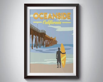 Oceanside | California | Travel Poster | Instant Download