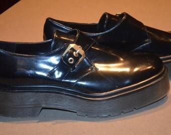 "Code FOREVER15: 15% + reduced SHIPPING! ""Derby"" shoes black Zara 39EU 8US"