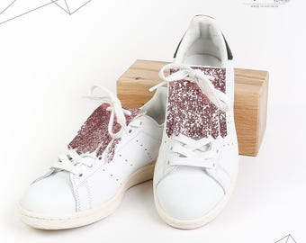 Kilties or removable tabs glitter for shoes (Rose powder)