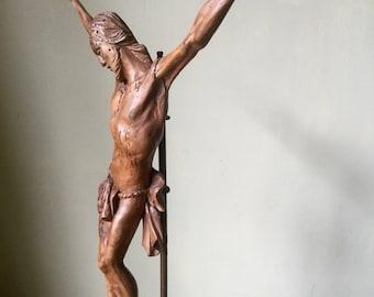 18th century basswood corpus christi / jesus