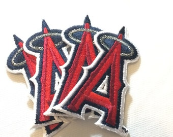4 Los Angeles Angels embroidered iron on patches *2 sizes to choose from LA Angels of Anaheim