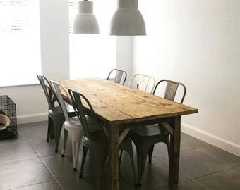 Reclaimed Scaffolding Board Farmhouse Dining Table / Garden Table