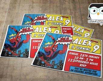 Spider-Man Birthday Invitation - Spider-Man Invitation - Spider-Man Invite - DIGITAL Spiderman