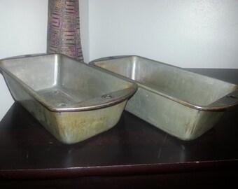 Set of 2 Vintage Bake King Loaf Pans ~ Bread Pans