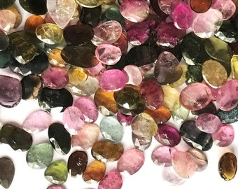 Natural Multi Tourmaline Mix Shape and Size 10x8 to 7x5 slices
