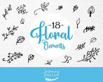 Flower svg files, branch svg, floral svg, leaf svg file, adobe illustrator elements, floral elements, vine svg, leaf svg, eps dxf ai psd png