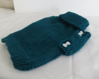 Side Button Knitted Dog Sweater