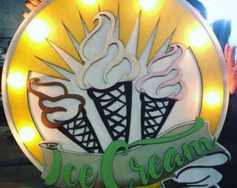 Custom Ice Cream sign.