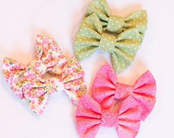Toddler fabric piggy bows