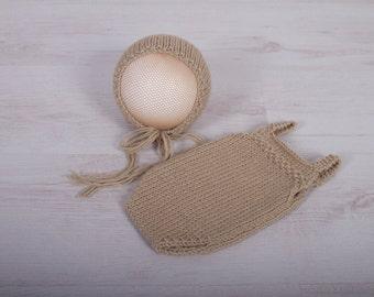 Newborn Set, Newborn Bonnet, Newborn Romper