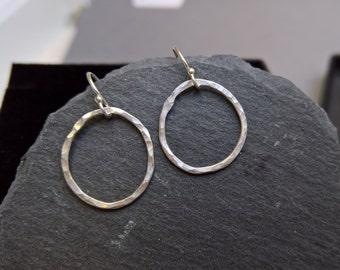 Silver teardrop earrings, tear drop earrings, silver hoops, silver hoop earrings, dainty silver earrings, everyday earrings, gift for her